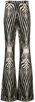Christian Siriano Zebra Print Flared Trousers