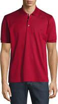 Brioni Cotton Pique Polo Shirt, Red