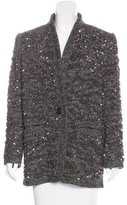 Isabel Marant Sequined Wool-Blend Coat