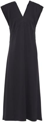 Joseph Sienna Button-detailed Crepe Midi Dress