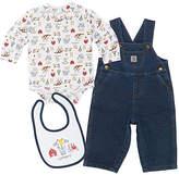 Carhartt Blue Wash Overalls Set - Infant