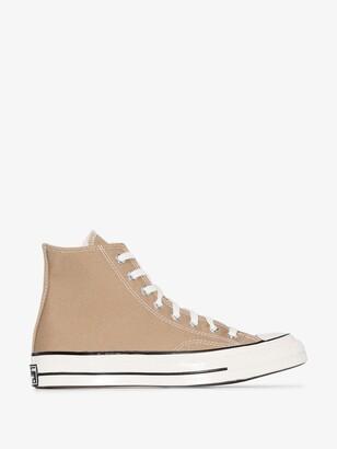 Converse Brown Beige Chuck 70 High Top Sneakers
