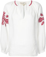 Nili Lotan embroidered detail blouse - women - Linen/Flax - M