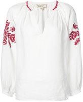 Nili Lotan embroidered detail blouse - women - Linen/Flax - XS