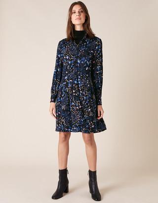 Under Armour Leopard Print Jersey Shirt Dress Blue