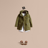 Burberry Hooded Cotton Linen Parka