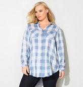 Avenue Blue Combo Plaid Tunic Shirt
