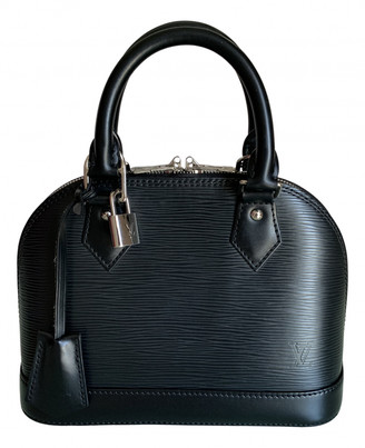Louis Vuitton Alma BB Black Leather Handbags