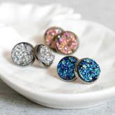 Nell Little Sparkling Druzy Stud Earrings
