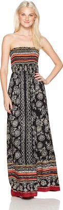 Angie Women's Maxi Dress with Tribal Print