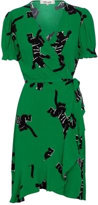 Diane von Furstenberg Emilia printed crepe wrap dress