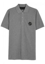 Philipp Plein Ibaraki Piqué Cotton Polo Shirt