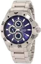 Nautica Men's N17546G NST 06 Multifunction Dial Steel Bracelet Watch
