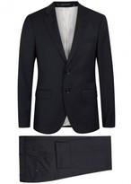 Tiger Of Sweden Gekko Navy Slim-fit Jacquard Wool Suit