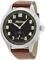 Alpina Startimer Pilot Heritage AL435B4SH6 Black Dial Leather Strap 50mm Mens Watch