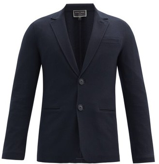Giorgio Armani Single-breasted Felted-cashmere Blazer - Navy