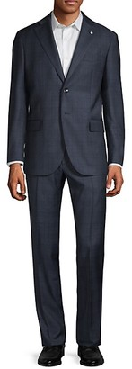 Lubiam Classic-Fit Plaid Wool Suit