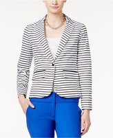 XOXO Juniors' Striped One-Button Blazer