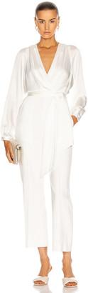 Jonathan Simkhai Piper Combo Wrap Jumpsuit in White | FWRD