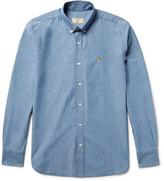 Maison Kitsuné Slim-Fit Button-Down Collar Cotton-Chambray Shirt