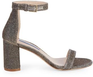 Stuart Weitzman Textured Ankle-Strap Sandals