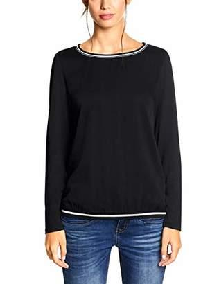 Street One Women's 3169 Long Sleeve Top, (Black 001), (Size: 38)