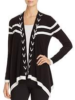Avec Stitched Open Front Cardigan