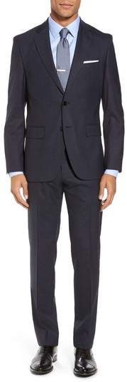 BOSS Johnstons/Lenon Classic Fit Check Wool Suit