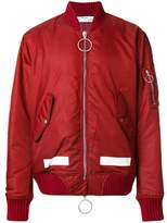 Off-White Men's Red Polyamide Outerwear Jacket.