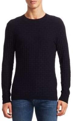 Emporio Armani Links Woven Pattern Sweater
