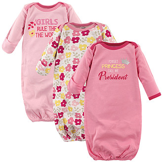 Luvable Friends Girls' Infant Gowns President - Pink 'Forget Princess Call Me the President' Gown Set - Newborn