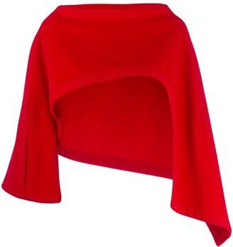 Yohji Yamamoto Pre-Owned cropped asymmetric slip-on jacket