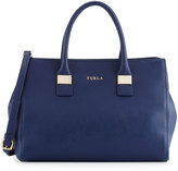 Furla Amelia Medium Leather Tote Bag, Navy
