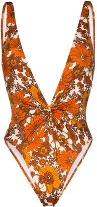 Dodo Bar Or Rylee floral print swimsuit
