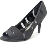 J. Renee Jemma Women Peep-toe Canvas Black Heels.