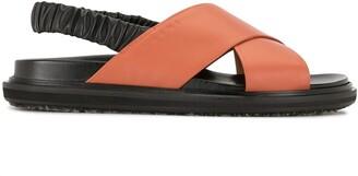 Marni Criss-Cross Flat Sandals