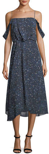 Camilla And Marc Lucia Off-the-Shoulder Chiffon Dress