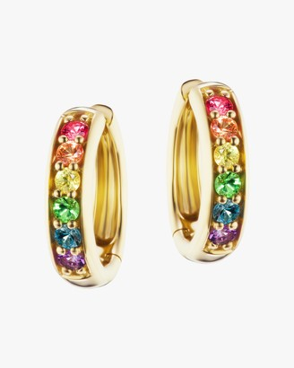 Jane Taylor Millinery Classic Rainbow Gemstone Hoop earrings