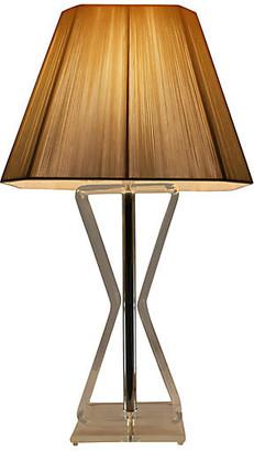 One Kings Lane Vintage Mid Century Modern Bent Lucite Lamp - Something Vintage