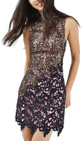 Topshop Women's Block Lace Dress