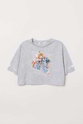 H&M Short Printed T-shirt - Gray