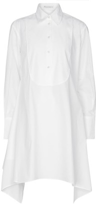 J.W.Anderson Asymmetric cotton poplin shirt dress