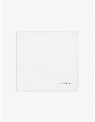 Lanvin Silk pocket square, Mens, White