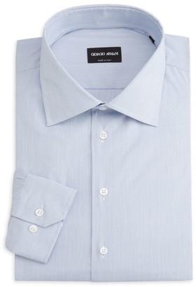 Giorgio Armani Micro-Stripe Cotton Shirt