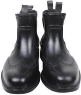 Salvatore Ferragamo Black Oxford Style Rubber Boots