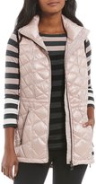 Calvin Klein Down-Filled Diamond Quilted Metallic Vest