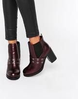 Park Lane Eyelet Heeled Chelsea Boots