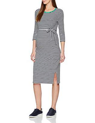 Mama Licious Mamalicious Women's Mlgina 3/4 Jersey Kl Dress A. V. O, Multicolour Blazer Y/D Stripes Navy Blazer & Snow White, 12 (Size: Medium)