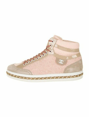 Chanel Chain-Link Accents Sneakers Pink