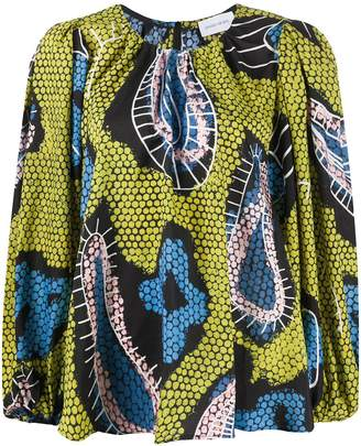 Christian Wijnants Geometric Flared Blouse